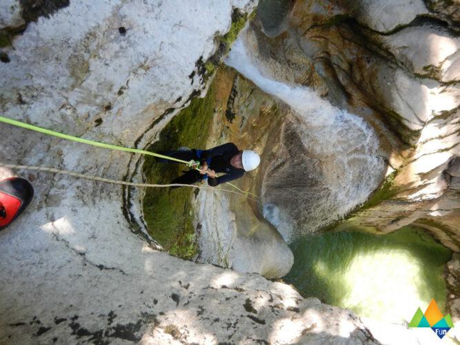 Canyoning Croiserette découverte journée Gravity Fun www.gravity-fun.fr