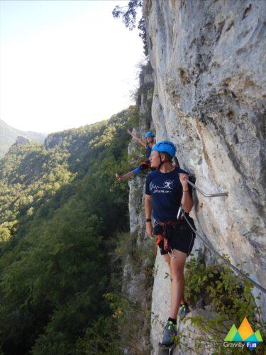 Via ferrata haute sensation sportive Guiguette Hostiaz Gravity Fun www.gravity-fun.fr